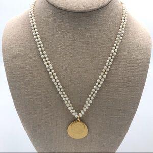 Lauren Ralph Lauren 2 Strand White Gold Necklace
